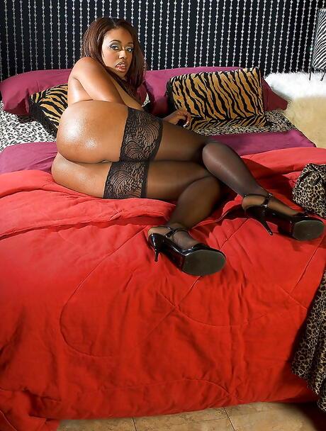 Black Women in Stockings Porn