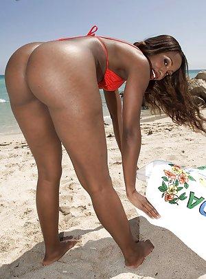 Blacks on Beach Porn